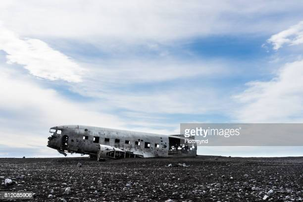 Plane wreck on Sólheimasandur black sand beach