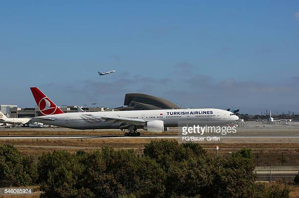 Planes at Los Angeles International Airport on July 10, 2016 in Los Angeles, California.