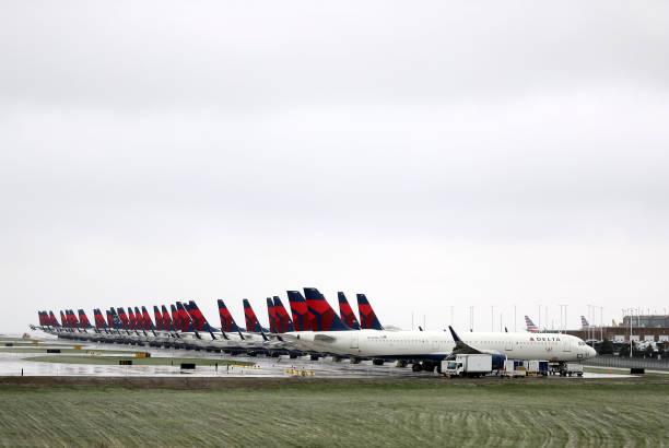 MO: Delta Planes Sit Idle At Kansas City International Airport
