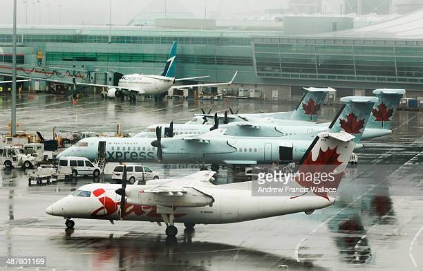 Planes carrying packages and cargo at Pearson airport April 30 2014 Liberals are expected to hike aviation fuel taxes from 27 cents per litre by as...