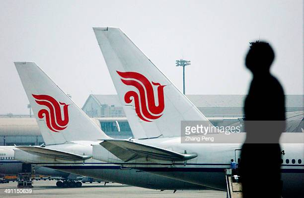 Planes of Air China in Beijing international airport Air China is one of the big three stateowned airlines in China