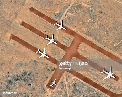 Planes parked at airport