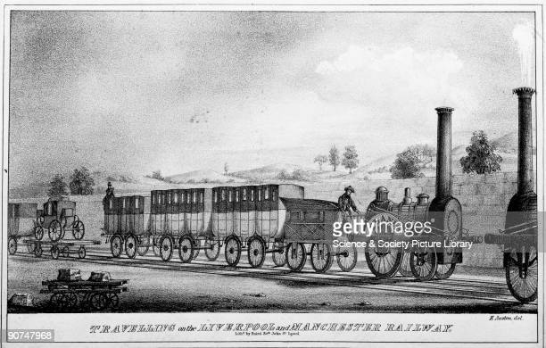 Planet' 022 steam locomotive and train 1830 Planet' 022 steam locomotive and train 1830 Lithograph by Baird The Planet was designed and built by...
