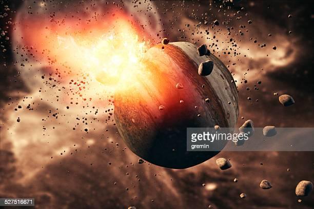 pianeta, di esplosione, di emergenza comet, - stella cometa foto e immagini stock