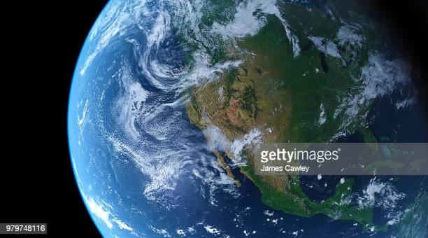planet earth against black background - north america stock pictures, royalty-free photos & images