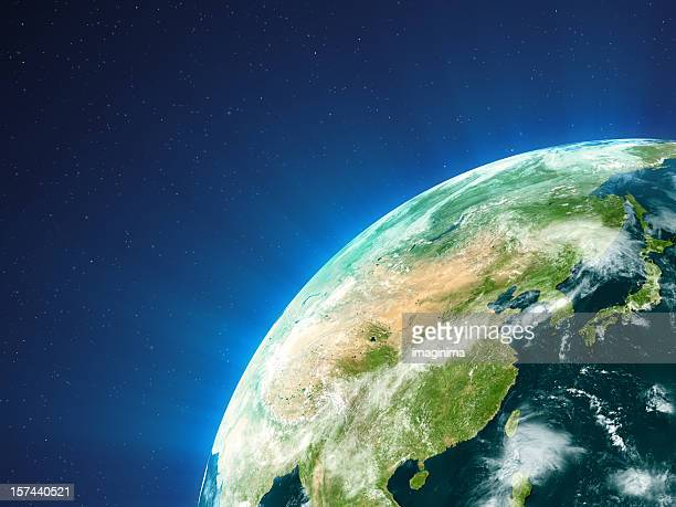 planet earth  - east asia - china east asia stock pictures, royalty-free photos & images