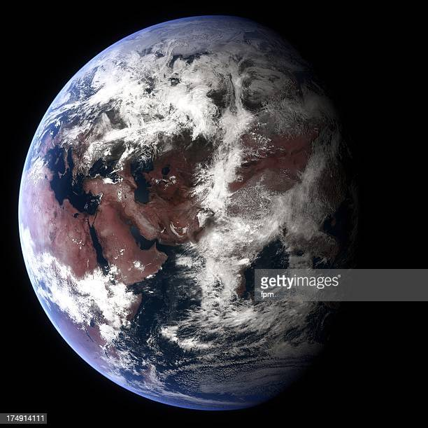 Planet Earth Globe with Eurasia visible