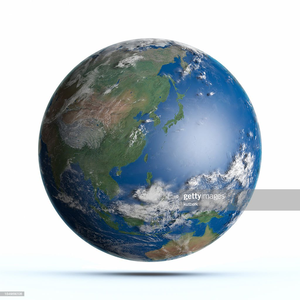 Planet Earth Pacific Ocean, Japan, Australia, China : Stock Photo