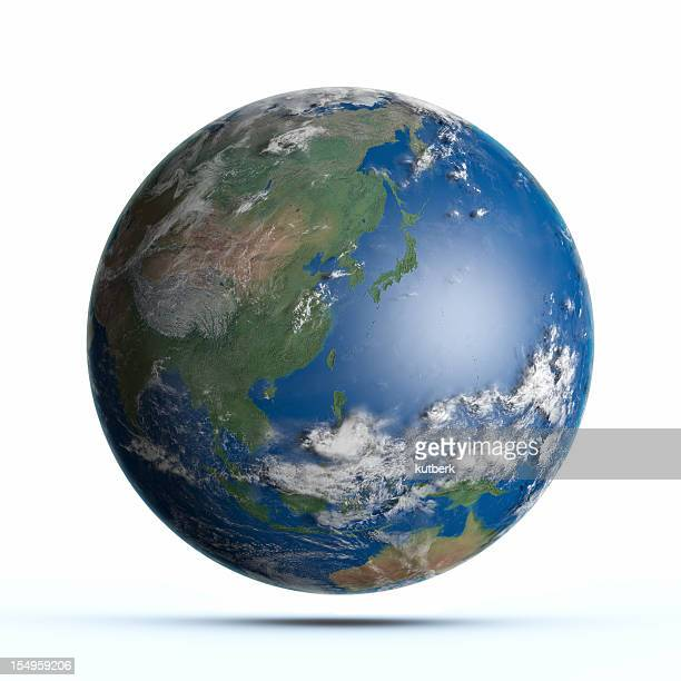 planet earth pacific ocean, japan, australia, china - east asia stock pictures, royalty-free photos & images