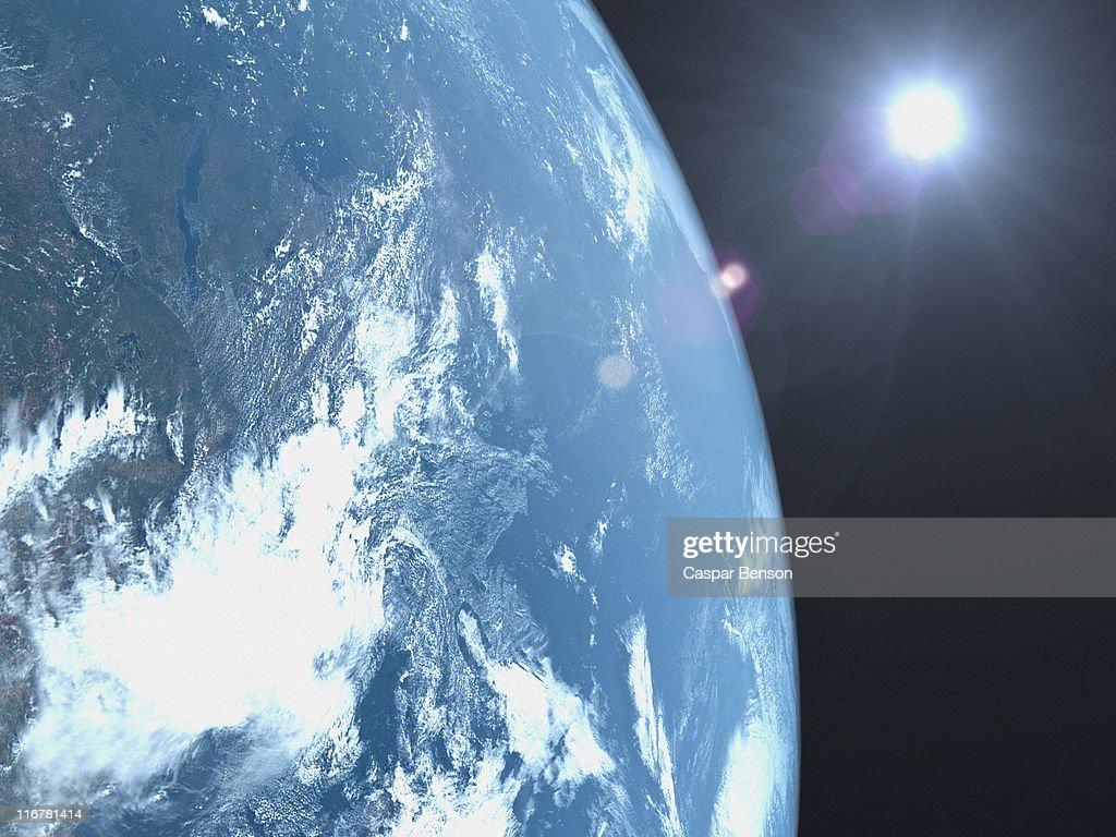 Planet earth, satellite view : Stock Photo