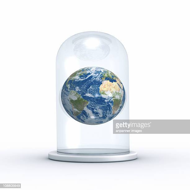 Planet Earth under Glass Cover