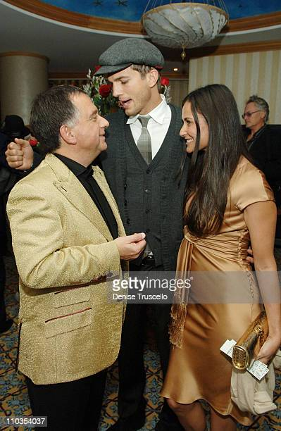 Planet Hollywood Owner Robert Earl actor Ashton Kutcher and actress Demi Moore at the Grand Opening of Planet Hollywood Resort Casino Weekend on...