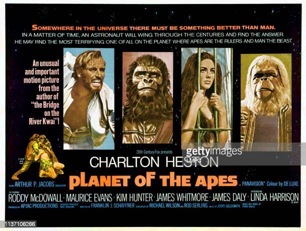 Planet Of The Apes poster Charlton Heston Linda Harrison Maurice Evans 1968
