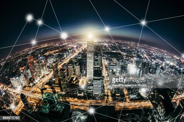 Planeet Smart City at Night