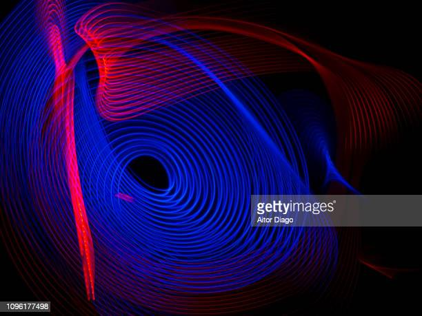 planetary constellation. black hole - stereoscopic images stock photos and pictures