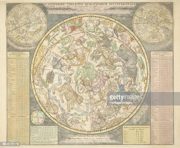 Planisphaerii Coelestis Hemisphaerium Septentrionale from Atlas Coelestis pub 1706