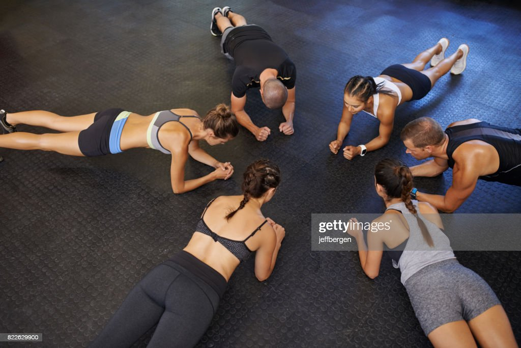 Planking is good for the core : Stock Photo