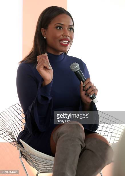 Planned Parenthood Director of Constituency Communications Alencia Johnson speaks onstage at Girlboss Rally Hosted By Sophia Amoruso's Girlboss on...