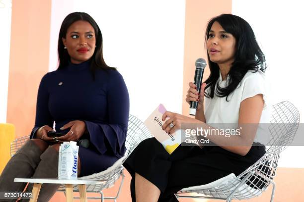 Planned Parenthood Director of Constituency Communications Alencia Johnson and Girlboss EditorinChief COO Neha Gandhi speak onstage at Girlboss Rally...
