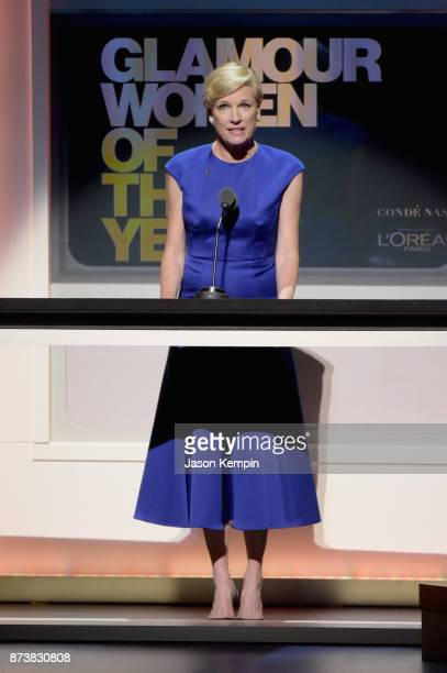 Planned Parenthood President Cecile Richards speaks onstage at Glamour's 2017 Women of The Year Awards at Kings Theatre on November 13 2017 in...