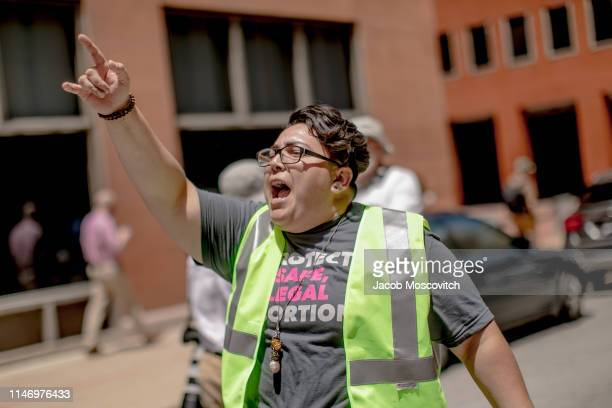 Planned Parenthood Rally Marshall chants and marches through downtown St Louis during a rally and march to protest the closure of the last abortion...