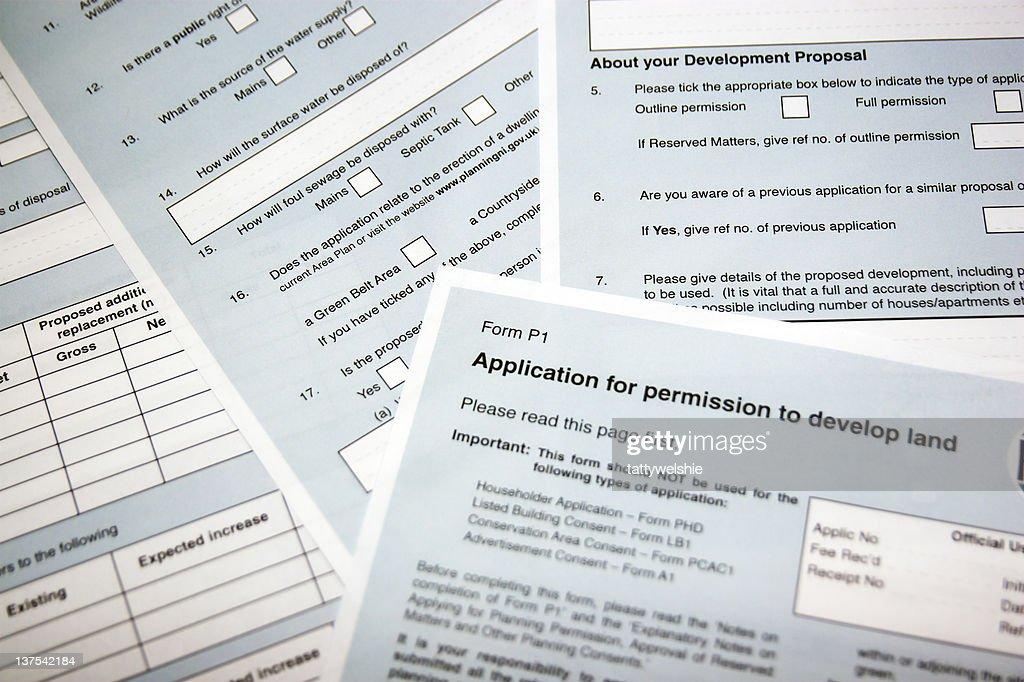Planning Application : Stock Photo