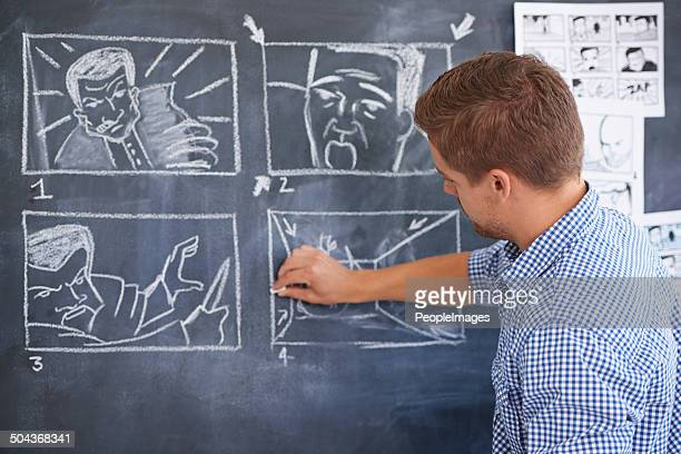 planning for his next shoot - illustrator stock photos and pictures