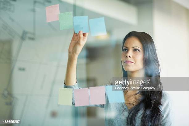 Planning her business strategy
