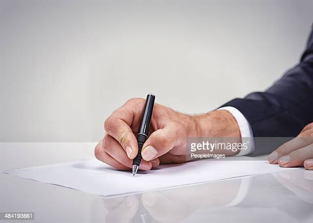 planning his business day - autographs stock photos and pictures