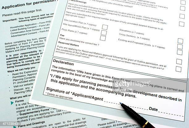 planning permission form - permission concept stock pictures, royalty-free photos & images