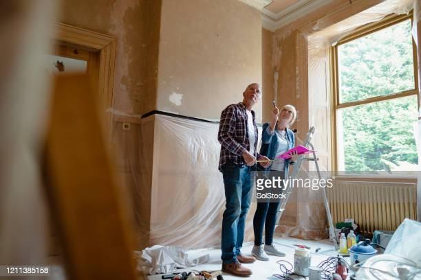 planungsraum dekor - decoration stock-fotos und bilder