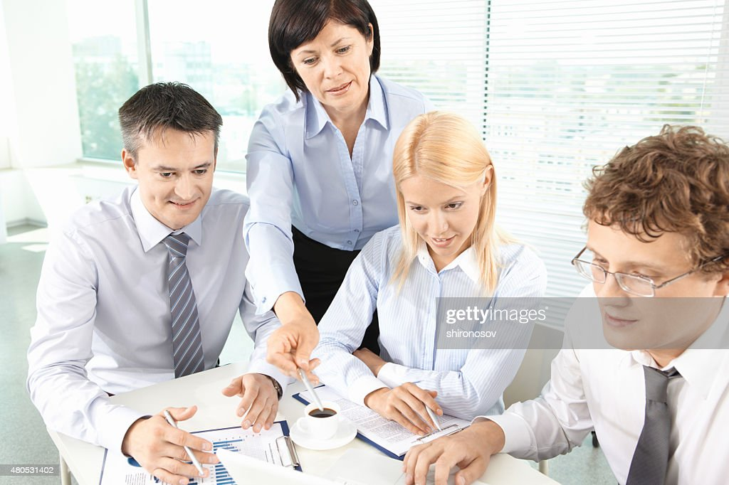 Planning work : Stock Photo