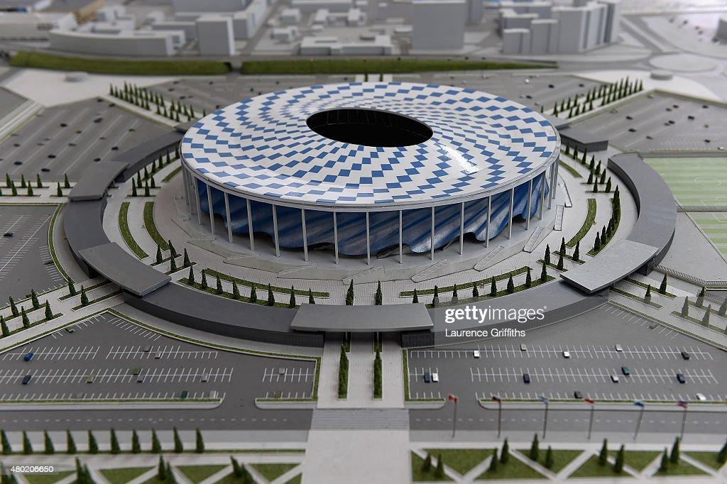 General Views of Nizhny Novgorod - Media Tour ahead of FIFA World Cup Russia 2018 Preliminary Draw : News Photo