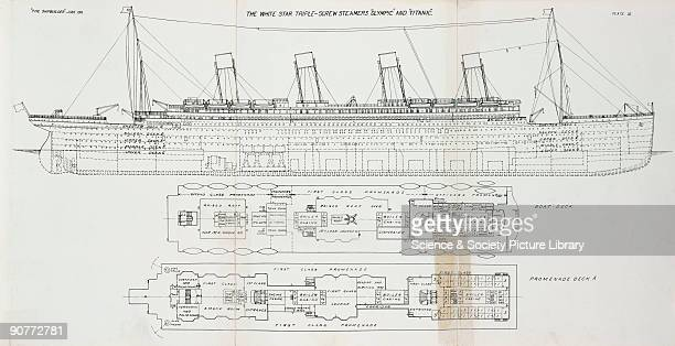 Plans of the liners built by Harland Wolff in Belfast The largest vessel in the world at the time and older sister of the Titanic Olympic was...