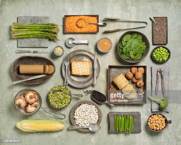 plant based protein - テンペ ストックフォトと画像