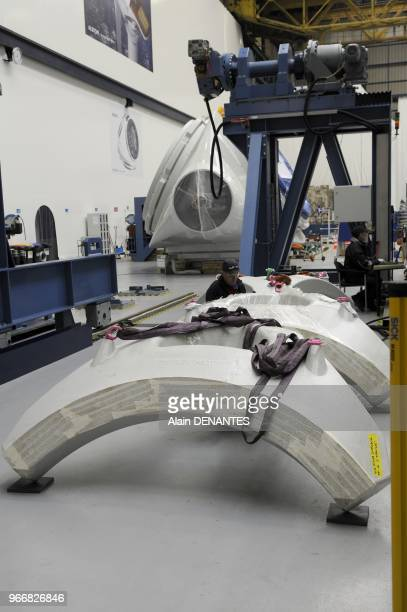 Plant production and assembly of offshore wind turbines installed by Alstom in SaintNazaire western France on January 23 2012 The plant manufactures...