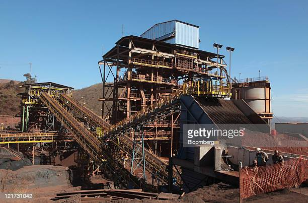 A plant separates different grades of iron ore at the Serra Azu mine in Minas Gerais Brazil on Friday Aug 19 2011 The Serra Azul mine is operated by...