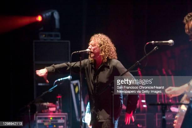 Paramount theater, 2025 Broadway, Oakland, CA;Robert Plant & The Strange Sensation.;Photo/John O'hara;;Ran on: ;Robert Plant makes the crowd roar...
