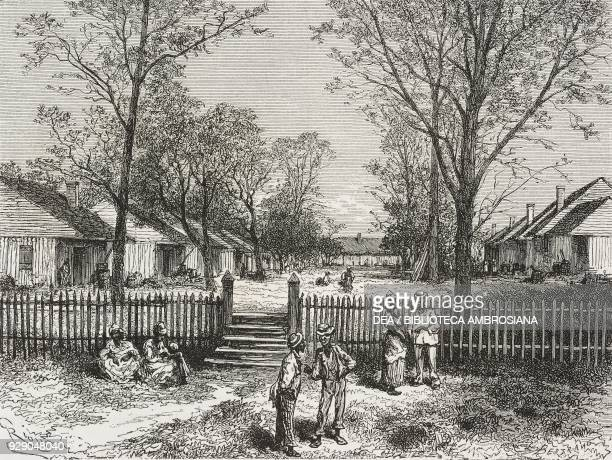 Plantation in the state of Georgia United States of America drawing by Edouard Riou from a photograph from The White Conquest by William Hepworth...