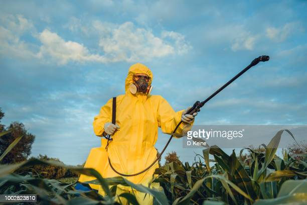 plantation spraying - gas mask stock pictures, royalty-free photos & images