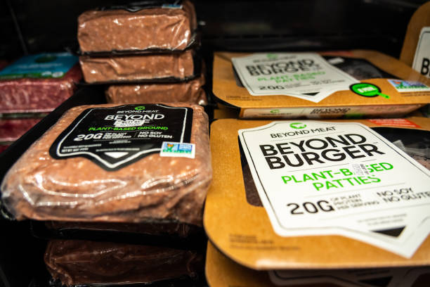 Plant-based Beyond Meat products seen in a Target superstore.
