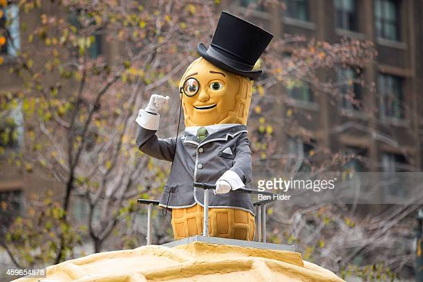 Planters Mr Peanut attends the 88th Annual Macy's Thanksgiving Day Parade outside Macy's Department Store in Herald Square on November 27 2014 in New...