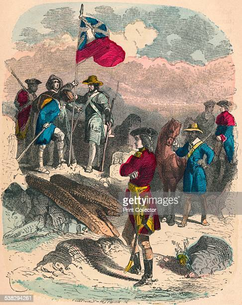 Planting of the Royal Flag on the Ruins of Fort Du Quesne 1758 The French held Fort Duquesne during the French and Indian War The French held the...