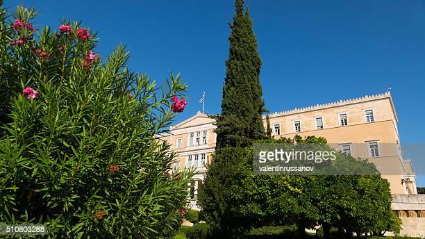 プラントの前旧王宮、アテネ(ギリシャ) - ギリシャ国会議事堂 ストックフォトと画像