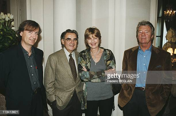 Plantu Bernard Pivot Claire Bretecher And Sempe On November 19th 1997 In ParisFrance