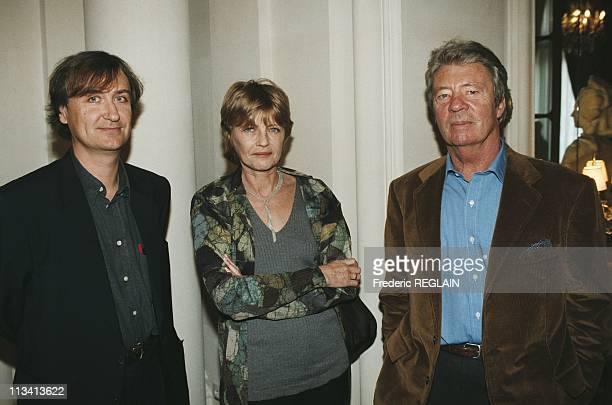 Plantu Bernard Pivot Claire Bretecher And Sempe On November 19th 1997 In France