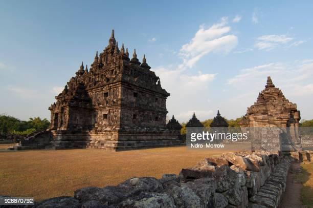 plaosan temple, yogyakarta, indonesia - yogyakarta stock photos and pictures