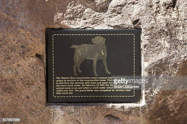 A plaque at Hoover Dam in Nevada marks the grave of a beloved dog on March 30 which was adopted by Hoover Dam construction workers and accidentally...