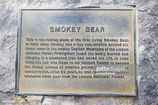 Plaque at Smokey Bear's Grave
