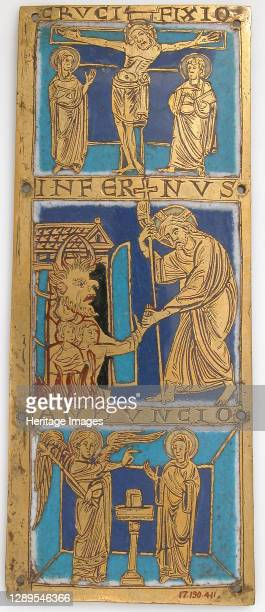 Plaque from a Portable Altar with Scenes from the Life of Jesus, German, ca. 1160-80. Artist Unknown.